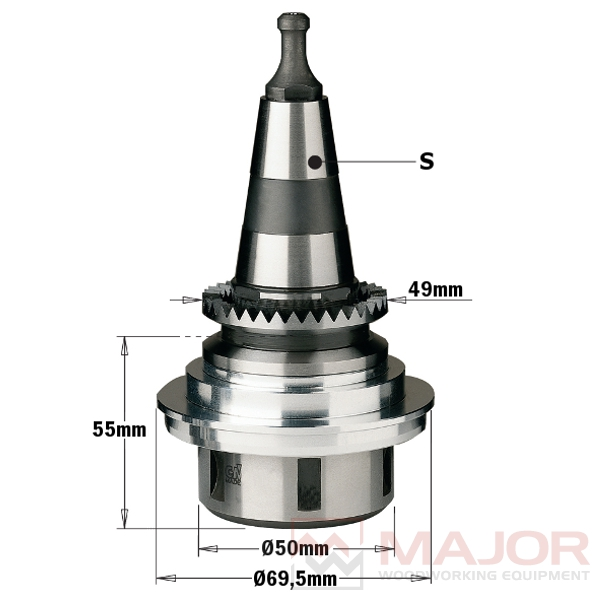 """183.250 without aluminium flange ISO30 Chucks for """"ER32"""" Precision Collets"""