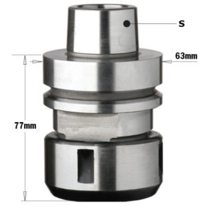 "183.320 HSK Chuck for ""DIN6388"" - EOC25 Precision Collet"